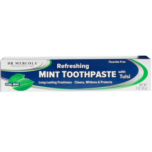 Dr. Mercola, Refreshing Toothpaste with Tulsi, Cool Mint, 3 oz (85 g) Review