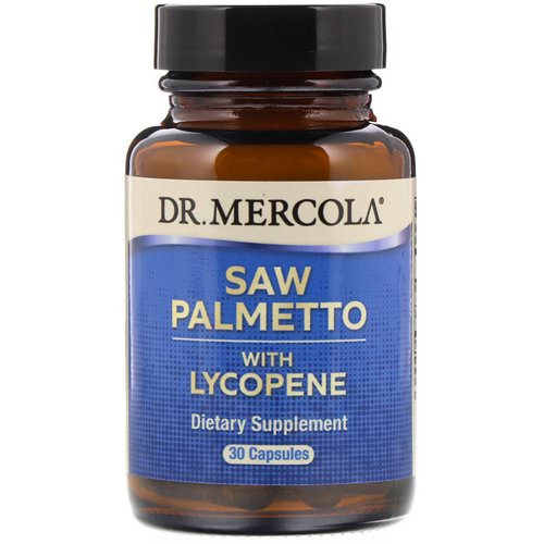 Dr. Mercola, Saw Palmetto with Lycopene, 30 Capsules Review