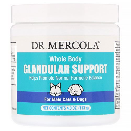 Dr. Mercola, Whole Body Glandular Support, For Male Cats & Dogs, 4.0 oz (113 g) Review