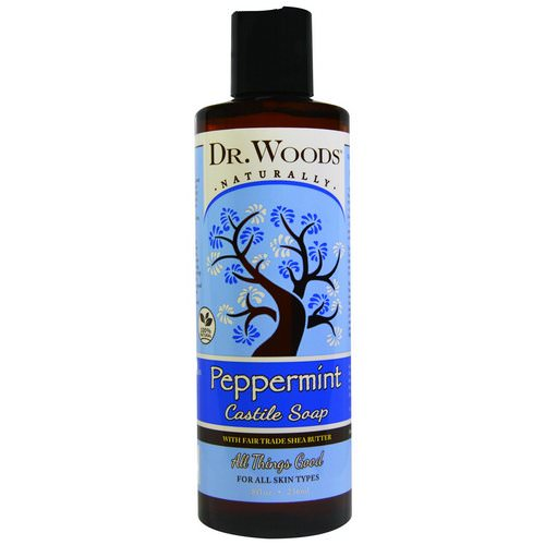 Dr. Woods, Peppermint Castile Soap with Fair Trade Shea Butter, 8 fl oz (236 ml) Review
