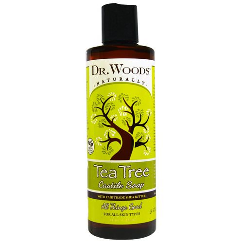 Dr. Woods, Tea Tree Castile Soap with Fair Trade Shea Butter, 8 fl oz (236 ml) Review