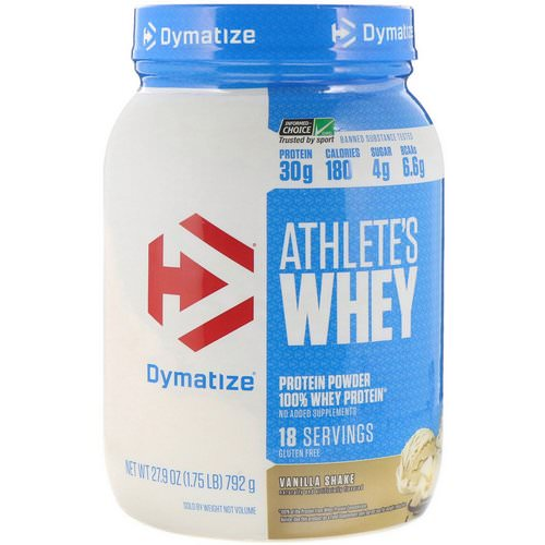 Dymatize Nutrition, Athlete's Whey, Vanilla Shake, 1.75 lb (792 g) Review