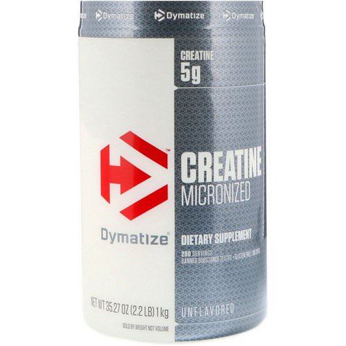 Dymatize Nutrition, Creatine Micronized, Unflavored, 2.2 lb (1 kg) Review