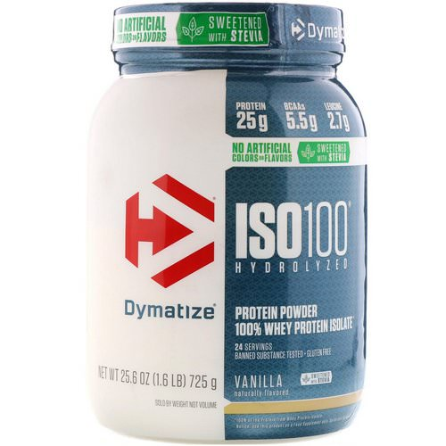 Dymatize Nutrition, ISO100 Hydrolyzed, 100% Whey Protein Isolate, Natural Vanilla, 1.6 lbs (725 g) Review