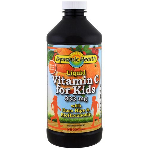 Dynamic Health Laboratories, Liquid Vitamin C for Kids Natural Citrus Flavors, 333 mg, 16 fl oz (473 ml) Review