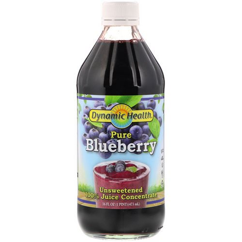 Dynamic Health Laboratories, Pure Blueberry, 100% Juice Concentrate, Unsweetened, 16 fl oz (473 ml) Review