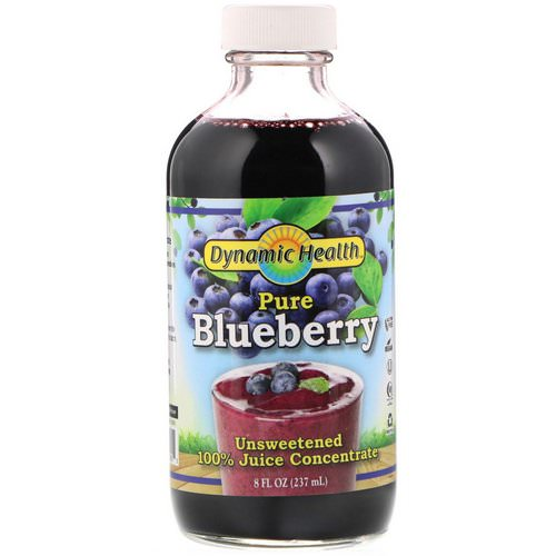 Dynamic Health Laboratories, Pure Blueberry, 100% Juice Concentrate, Unsweetened, 8 fl oz (237 ml) Review