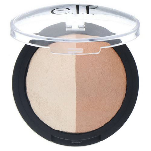 E.L.F, Baked Highlighter & Bronzer, Bronzed Glow, 0.183 oz (5.2 g) Review