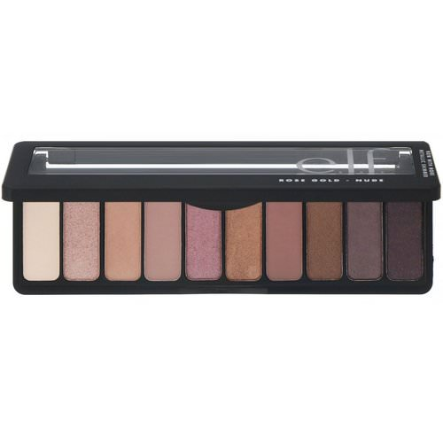 E.L.F, Rose Gold Eyeshadow Palette, Nude, 0.49 oz (14 g) Review