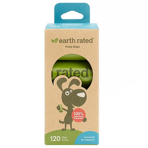 Earth Rated, Dog Waste Bags, Unscented, 120 Bags, 8 Refill Rolls Review