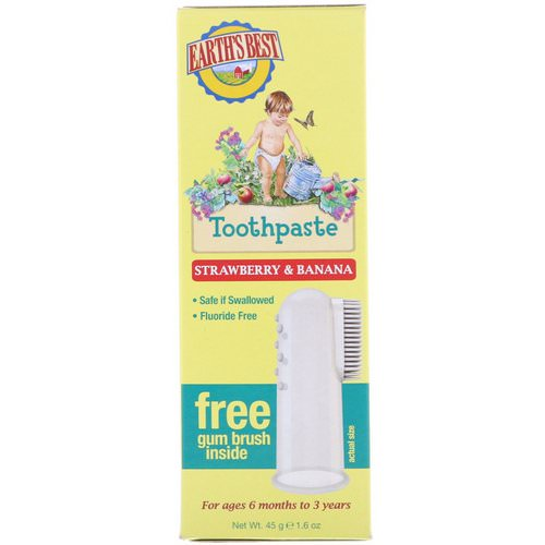 Earth's Best, Toothpaste, Strawberry & Banana, 1.6 oz (45 g) Review