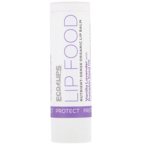 Eco Lips, Lip Food, Protect, Nutrient-Dense Organic Lip Balm, Vanilla Lavender, .15 oz (4.25 g) Review