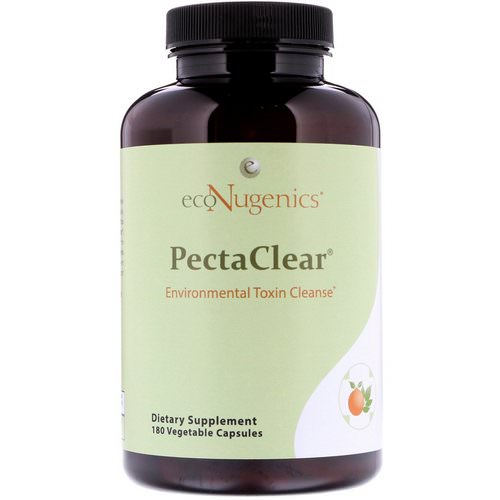 Econugenics, PectaClear, Environmental Toxin Cleanse, 180 Vegetable Capsules Review