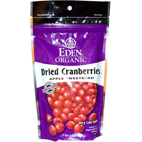 Eden Foods, Organic Dried Cranberries, 4 oz (113 g) Review