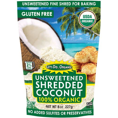 Edward & Sons, Let's Do Organic, 100% Organic Unsweetened Shredded Coconut, 8 oz (227 g) Review