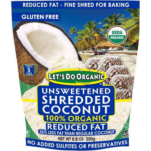 Edward & Sons, Let's Do Organic, 100% Organic Unsweetened Shredded Coconut, Reduced Fat, 8.8 oz (250 g) Review