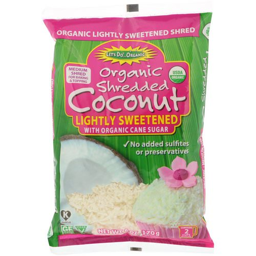Edward & Sons, Let's Do Organic, Organic Shredded Coconut, Lightly Sweetened, 6 oz (170 g) Review