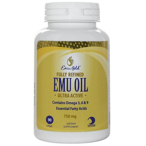 Emu Gold, Fully Refined EMU Oil, Ultra Active, 750 mg, 90 Softgels Review