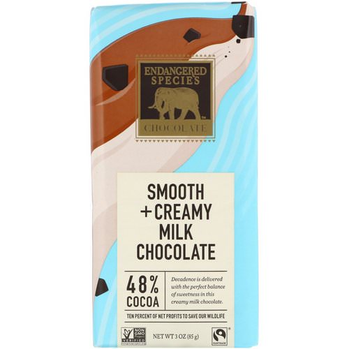 Endangered Species Chocolate, Smooth + Creamy Milk Chocolate, 3 oz (85 g) Review