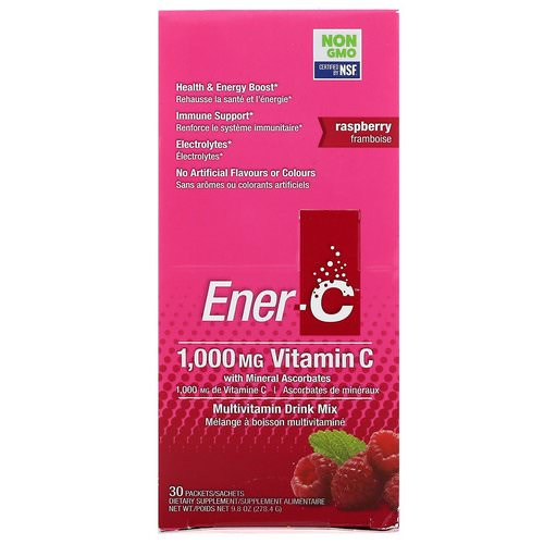 Ener-C, Vitamin C, Multivitamin Drink Mix, Raspberry, 30 Packets, 9.8 oz (277 g) Review