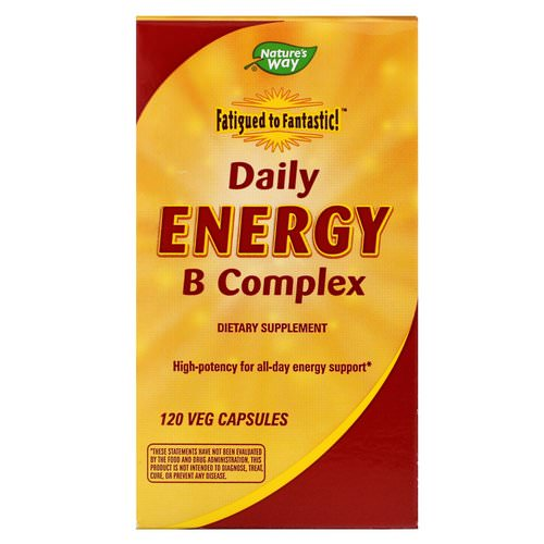 Nature's Way, Fatigue to Fantastic! Daily Energy B Complex, 120 Veggie Caps Review