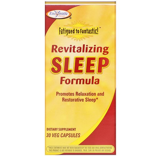 Enzymatic Therapy, Fatigued to Fantastic! Revitalizing Sleep Formula, 30 Veg Capsules Review