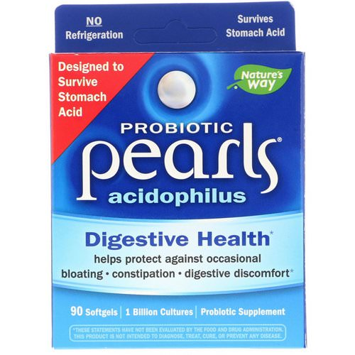 Nature's Way, Probiotic Pearls Acidophilus, 90 Softgels Review