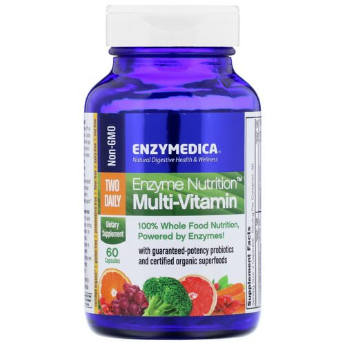Enzymedica, Enzyme Nutrition Multi-Vitamin, Two Daily, 60 Capsules Review