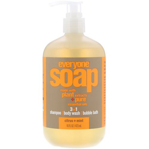 EO Products, Everyone Soap, 3 in 1, Citrus + Mint, 16 fl oz (473 ml) Review
