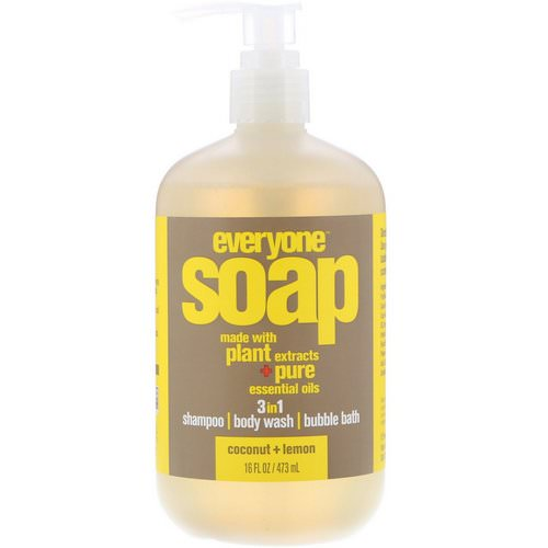 EO Products, Everyone Soap, 3 in 1, Coconut + Lemon, 16 fl oz (473 ml) Review