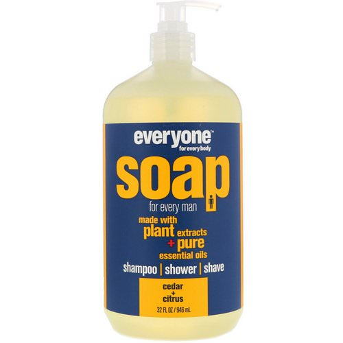 EO Products, Everyone Soap for Every Man, Cedar + Citrus, 32 fl oz (946 ml) Review