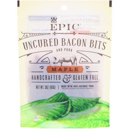 Epic Bar, Uncured Bacon Bits and Pork, Maple, 3 oz (85 g) Review