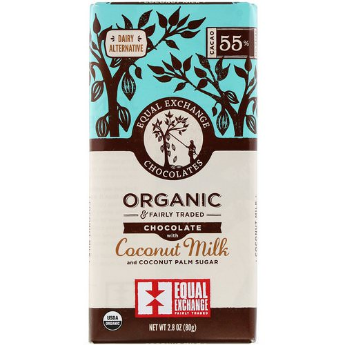 Equal Exchange, Organic Chocolate, Coconut Milk and Coconut Palm Sugar, 2.8 oz (80 g) Review