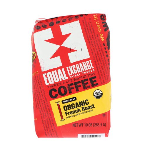 Equal Exchange, Organic, Coffee, French Roast, Whole Bean, 10 oz (283.5 g) Review