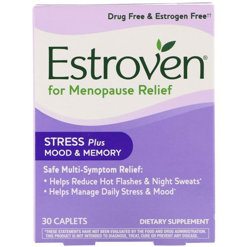 Estroven, Menopause Relief, Stress Plus Mood & Memory, 30 Caplets Review