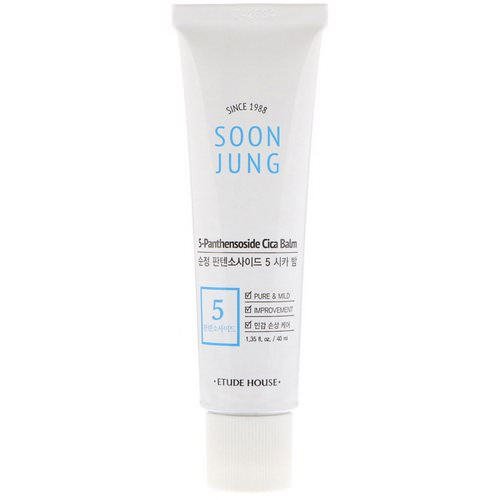 Etude House, Soon Jung, 5-Panthensoside Cica Balm, 1.35 fl oz (40 ml) Review