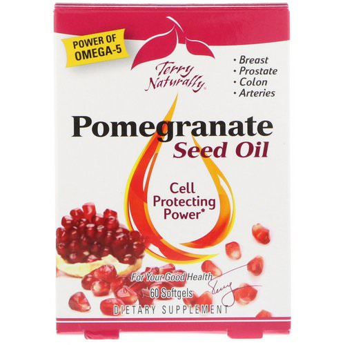 EuroPharma, Terry Naturally, Pomegranate Seed Oil, 60 Softgels Review