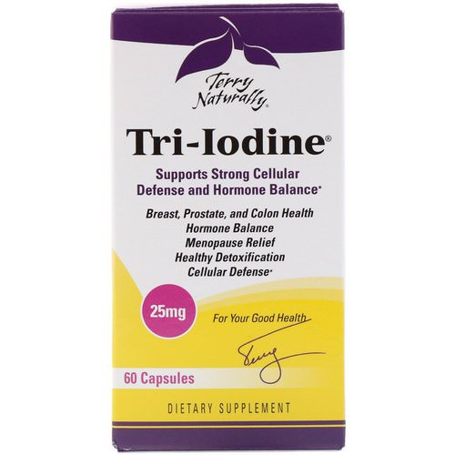 EuroPharma, Terry Naturally, Tri-Iodine, 25 mg, 60 Capsules Review