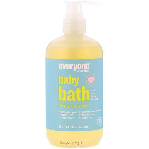 Everyone, Baby Bath, Simply Unscented, 12.75 fl oz (377 ml) Review