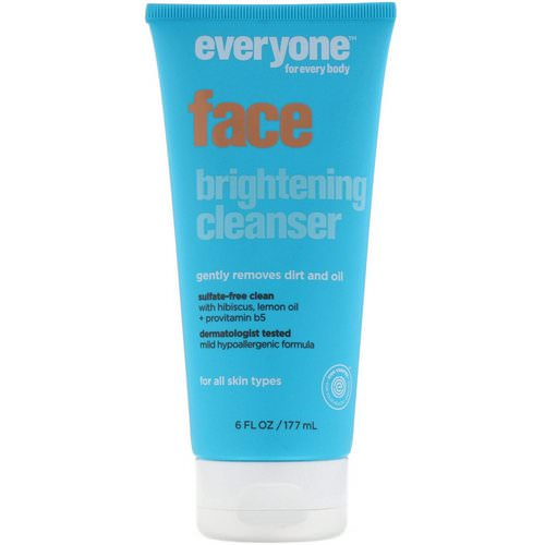 Everyone, Face Brightening Cleanser, 6 fl oz (177 ml) Review