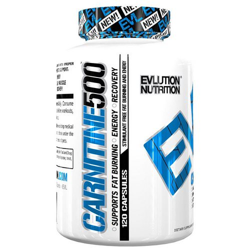 EVLution Nutrition, Carnitine 500, 120 Capsules Review