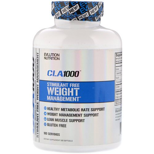 EVLution Nutrition, CLA 1000, Stimulant Free Weight Management, 180 Softgels Review