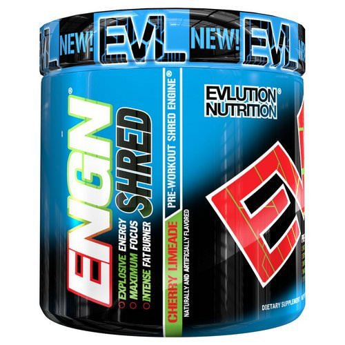 EVLution Nutrition, ENGN Shred, Cherry Limeade Pre-Workout, 8.1 oz (231 g) Review