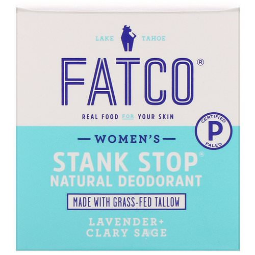 Fatco, Stank Stop Natural Deodorant, Women's, Lavender + Clary Sage, 1 fl oz (29 ml) Review