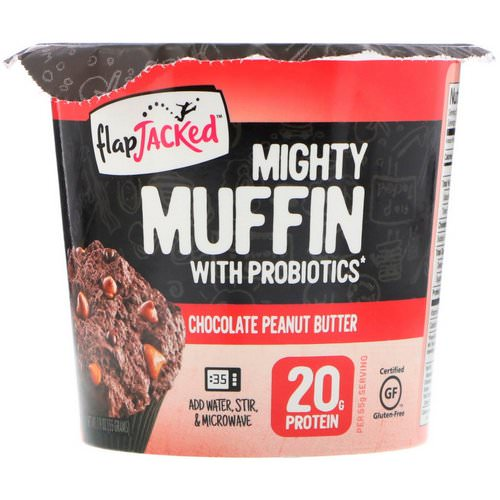 FlapJacked, Mighty Muffin With Probiotics, Chocolate Peanut Butter, 1.9 oz (55 g) Review