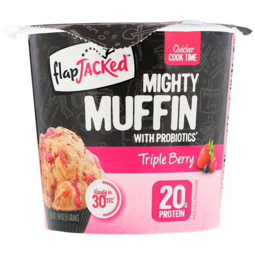FlapJacked, Mighty Muffin with Probiotics, Triple Berry, 1.94 oz (55 g) Review