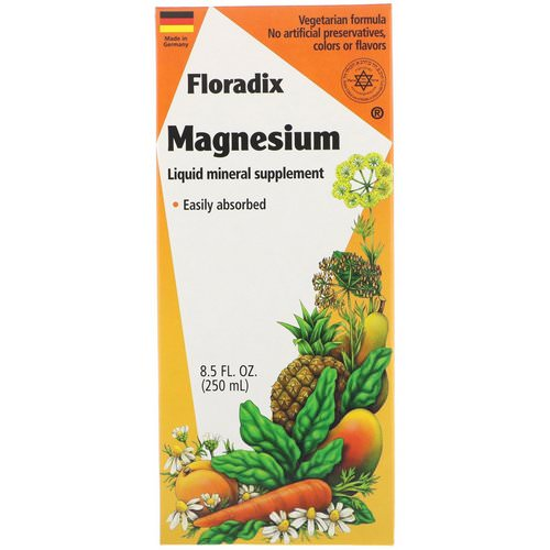 Flora, Floradix, Magnesium, Liquid Mineral Supplement, 8.5 fl oz (250 ml) Review