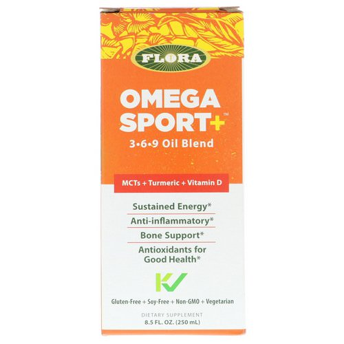 Flora, Omega Sport +, 3-6-9 Oil Blend, 8.5 fl oz (250 ml) Review