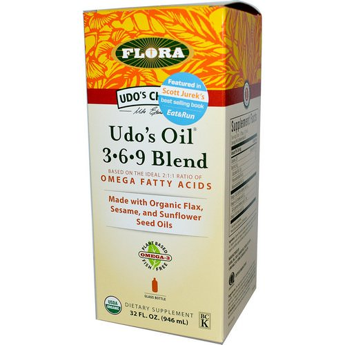 Flora, Udo's Choice, Udo's Oil 3·6·9 Blend, 32 fl oz (946 ml) Review