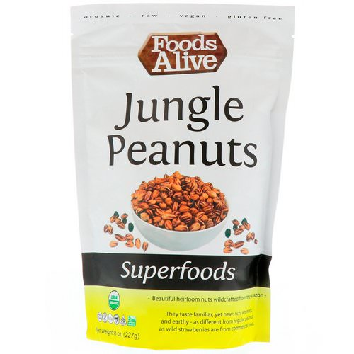 Foods Alive, Superfoods, Jungle Peanuts, 8 oz (227 g) Review